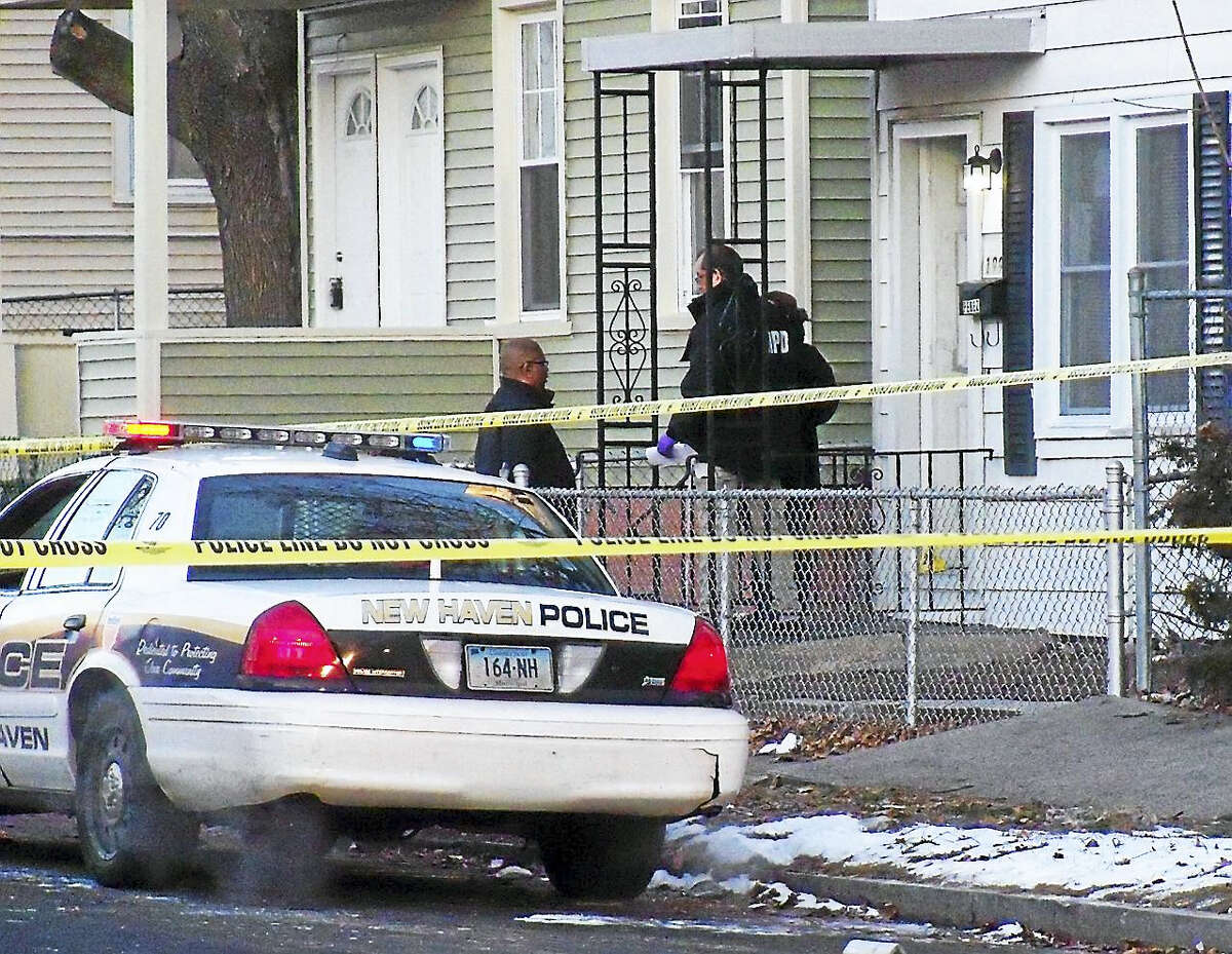 New Haven police were investigating Monday after a man was shot at a home at 199 Pine St. The homeowner reportedly told police the man had kicked in the door before the homeowner shot him.