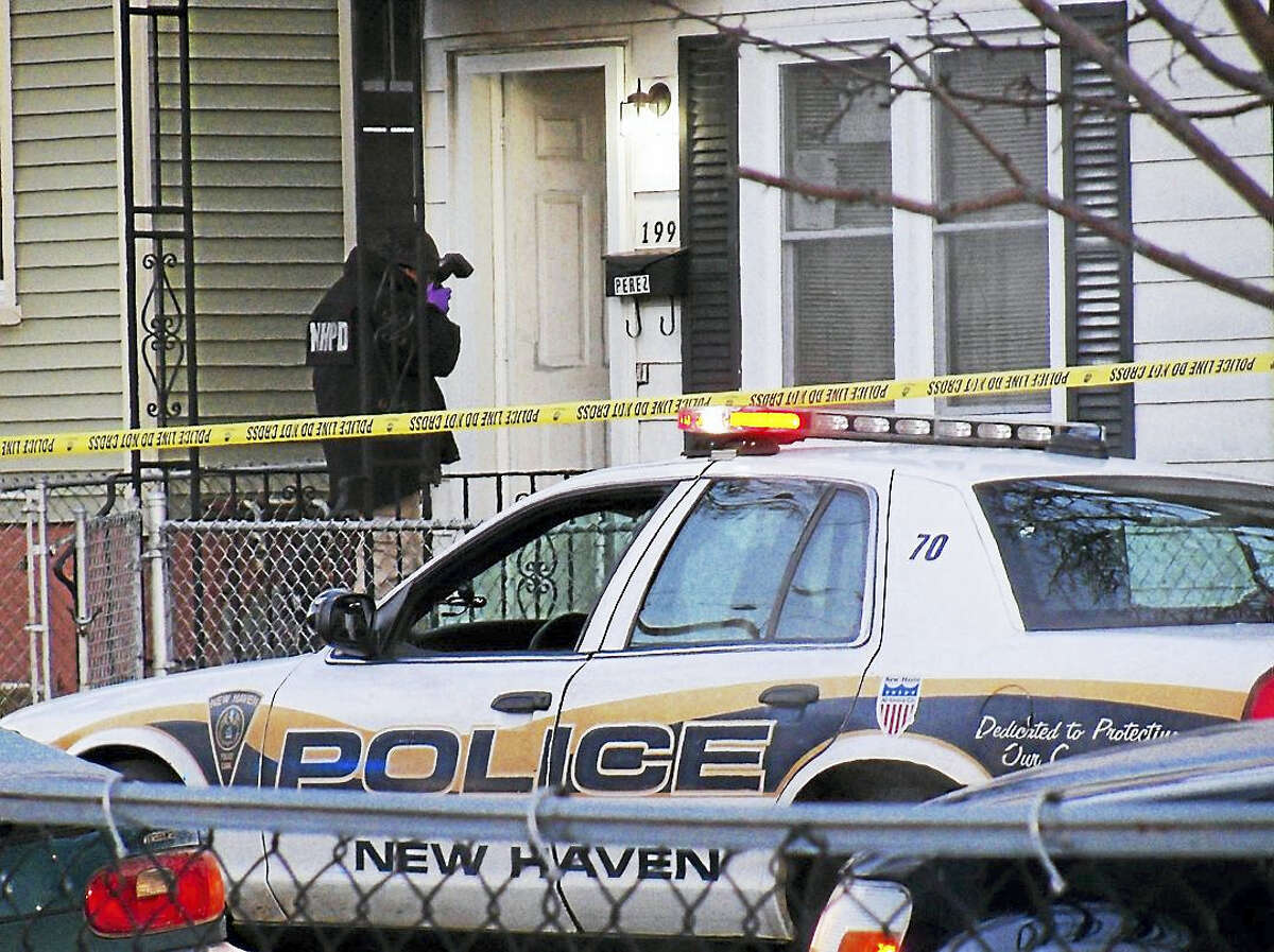 New Haven police were investigating Monday after a man was shot at home at 199 Pine St. The homeowner reportedly told police the man had kicked in the door before the homeowner shot him.