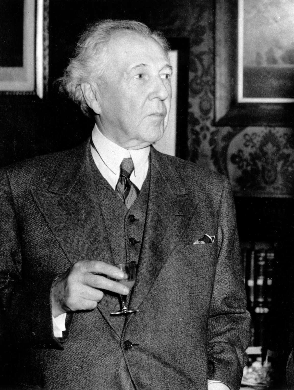 This May 9, 1939 file photo shows architect Frank Lloyd Wright.