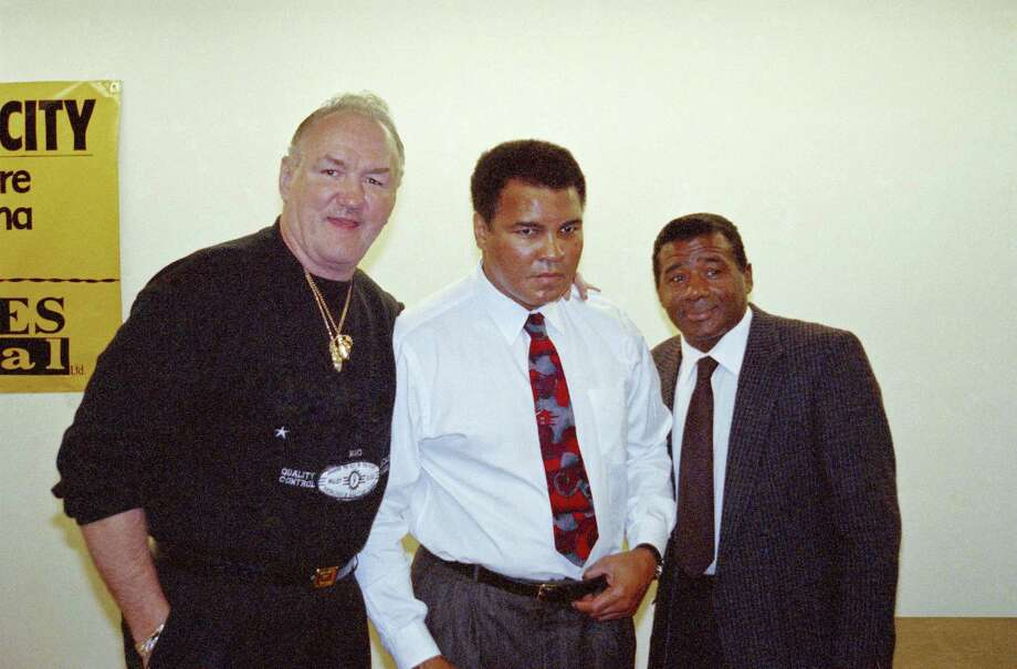 Boxing legend Muhammad Ali, center, reunites with two former opponents, Chuck Wepner, left, and Floyd Patterson. Photo: Teddy Blackburn — The Associated Press File   / Copyright 2017 The Associated Press. All rights reserved.