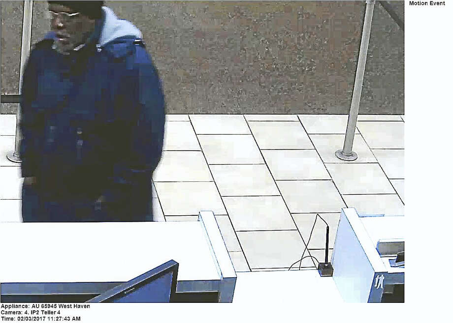 Police are investigating after a man allegedly robbed Wells Fargo Bank on Campbell Avenue late Friday morning. The man fled with an undetermined amount of cash Photo: Photo Courtesy West Haven Police Department