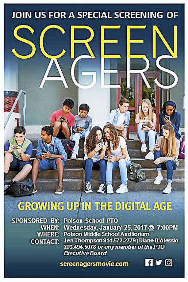 """Screenagers,"" the documentary shown to Madison parents and educators, got folks talking about cellphone overuse. Photo: Poster Courtesy Polson School PTO"