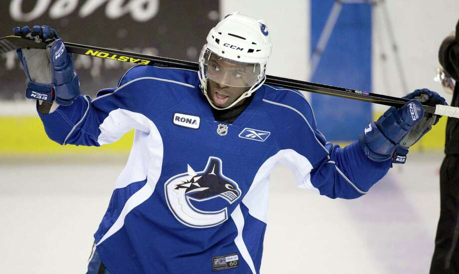 Jordan Subban skates during Vancouver Canucks training camp. AHL players like Subban, aren't thinking much about expansion, but if the Vancouver Canucks lose a defenseman to Vegas he could be a full-time NHL player sooner rather than later. Photo: The Associated Press File Photo   / CP