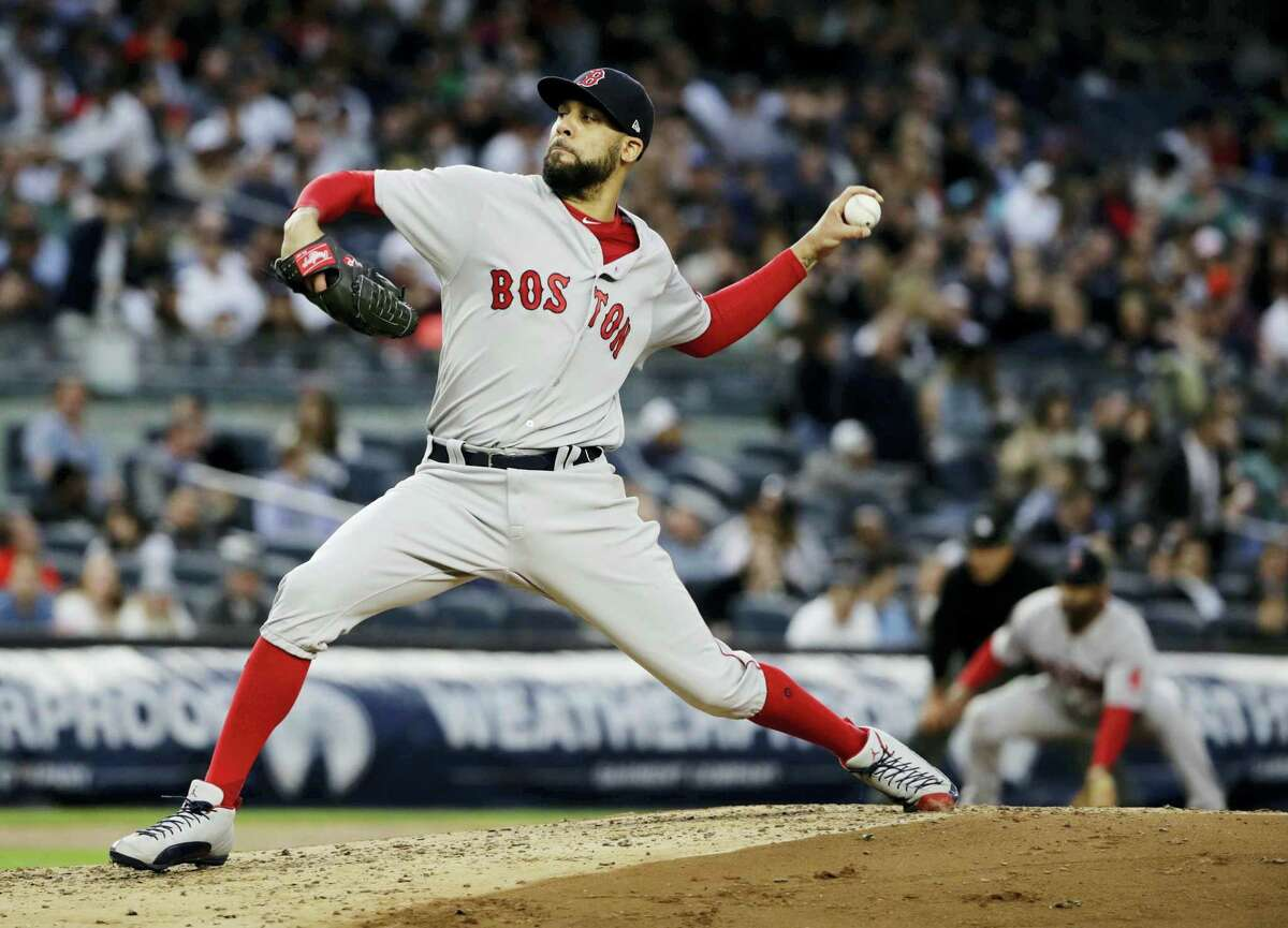 Boston Red Sox pitcher David Price delivers during the first inning against the New York Yankees.