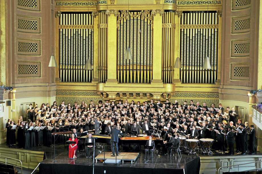 The New Haven Chorale at a previous Woolsey Hall event. Photo: Contributed   / Photo Credit Must Be Given:Harold Shapiro