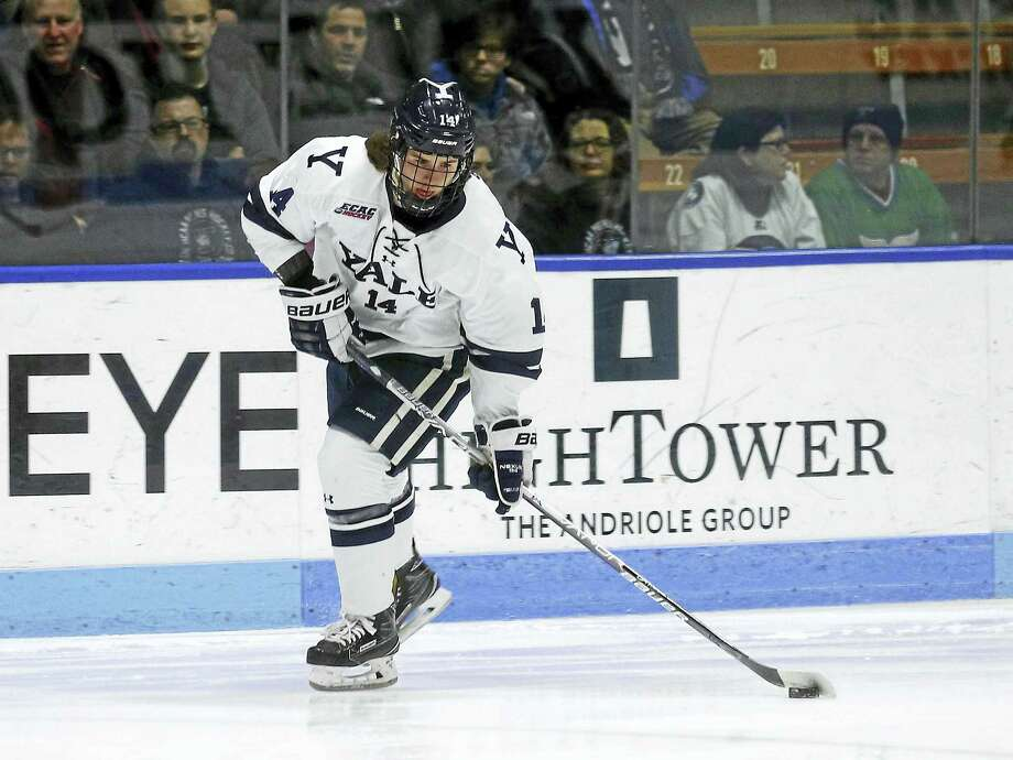 Yale's Mitchell Smith skates during a recent game. Photo: Photo Courtesy Of Yale Athletics   / Copyright 2017 by Jack Warhola, all rights reserved.