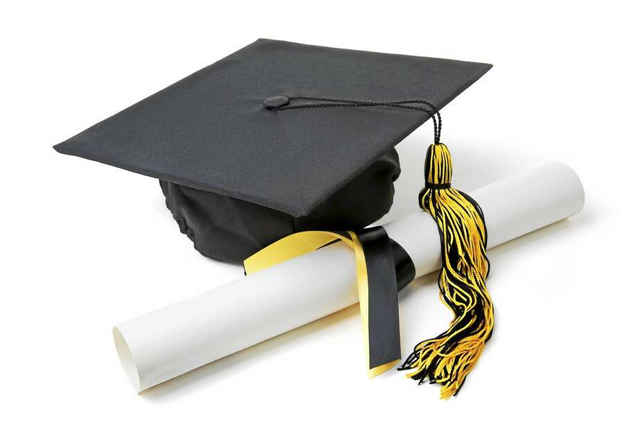 Graduation Cap and Diploma on White with Soft Shadow. Photo: Journal Register Co. / 2008 Uyen Le