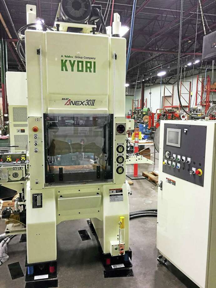 A $225,000 loan from the state of Connecticut had helped Marion Manufacturing in Cheshire buy a newer and faster metal stamping press. Photo: Contributed Photo