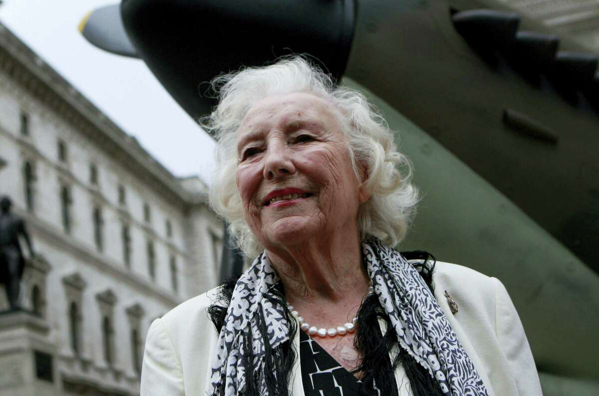 Dame Vera Lynn attends a ceremony to mark the 70th anniversary of the Battle of Britain in central London in 2010.