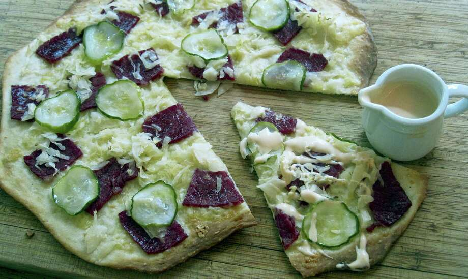Reuben pizza. Photo: Sara Moulton Via AP   / Sara Moulton