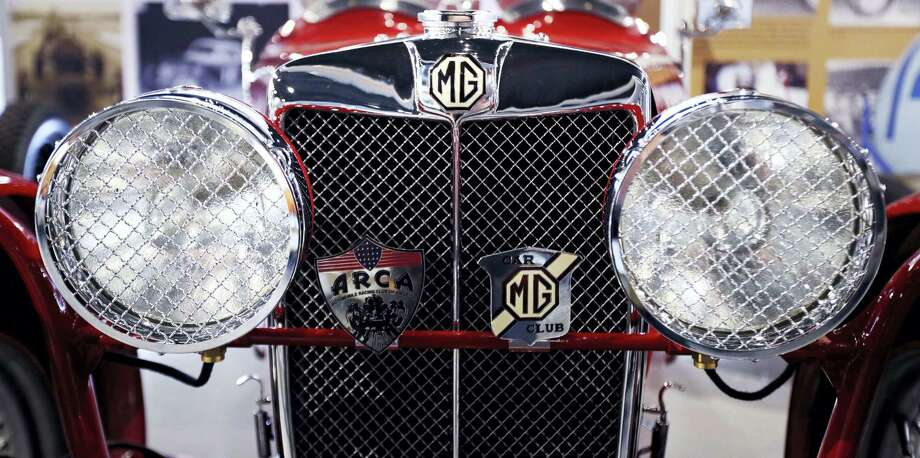 In this Wednesday, May 31, 2017 photograph, the chrome sparkles on a mint 1932 MG J2 race car on display at the North East Motor Sports Museum in Loudon, N.H. The museum dedicated to motorsports in New England resides just outside the front gates the New Hampshire Motor Speedway. (AP Photo/Charles Krupa) Photo: AP / Copyright 2017 The Associated Press. All rights reserved.