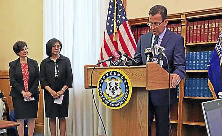 Gov. Dannel P. Malloy announces the nomination of Superior Court judges Nina F. Elgo of West Hartford and Maria Araujo Kahn of Cheshire. Photo: Jack Kramer — Ctnewsjunkie