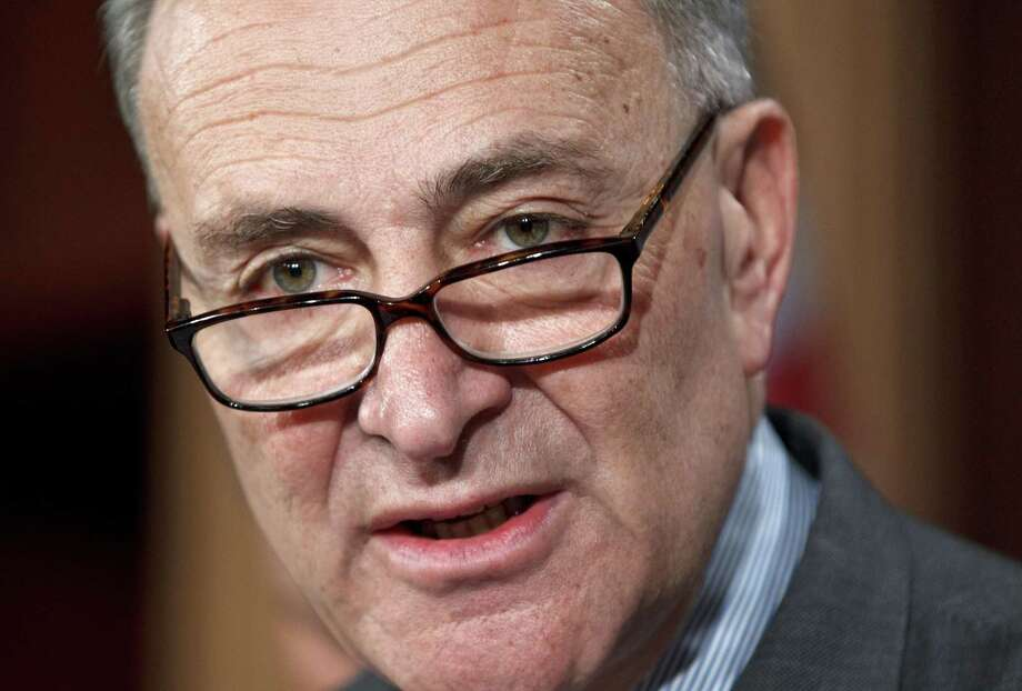 Sen. Charles Schumer, D-N.Y.,during a news conference on Capitol Hill in Washington. Photo: Associated Press — J. Scott Applewhite   / AP2012