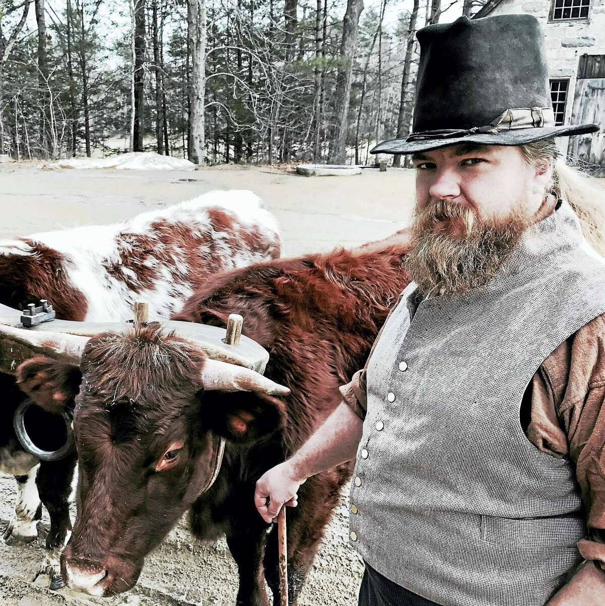 """Dave Hruska as the Teamster in """"Midwinter Mischief"""" at Old Sturbridge Village."""