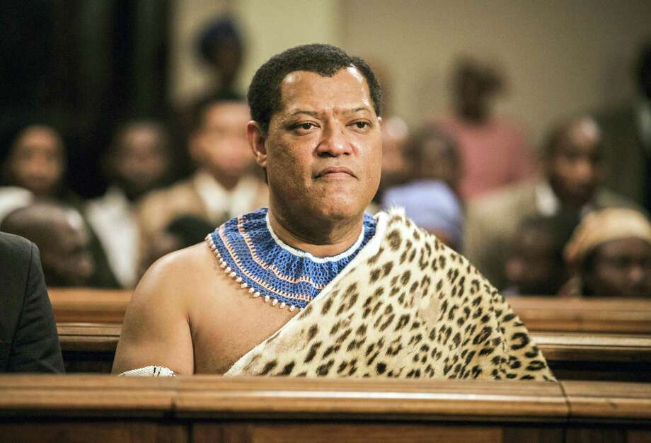 """This image released by BET shows Laurence Fishburne as Nelson Mandela in a scene from, """"Madiba,"""" a six-hour miniseries premiering on Feb. 1, 2017. Photo: Marcos Cruz/BET Via AP   / Marcos Cruz"""