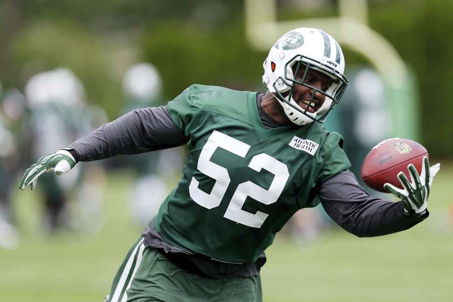 Linebacker David Harris was released by the Jets on Tuesday. Photo: The Associated Press File Photo   / Copyright 2017 The Associated Press. All rights reserved.