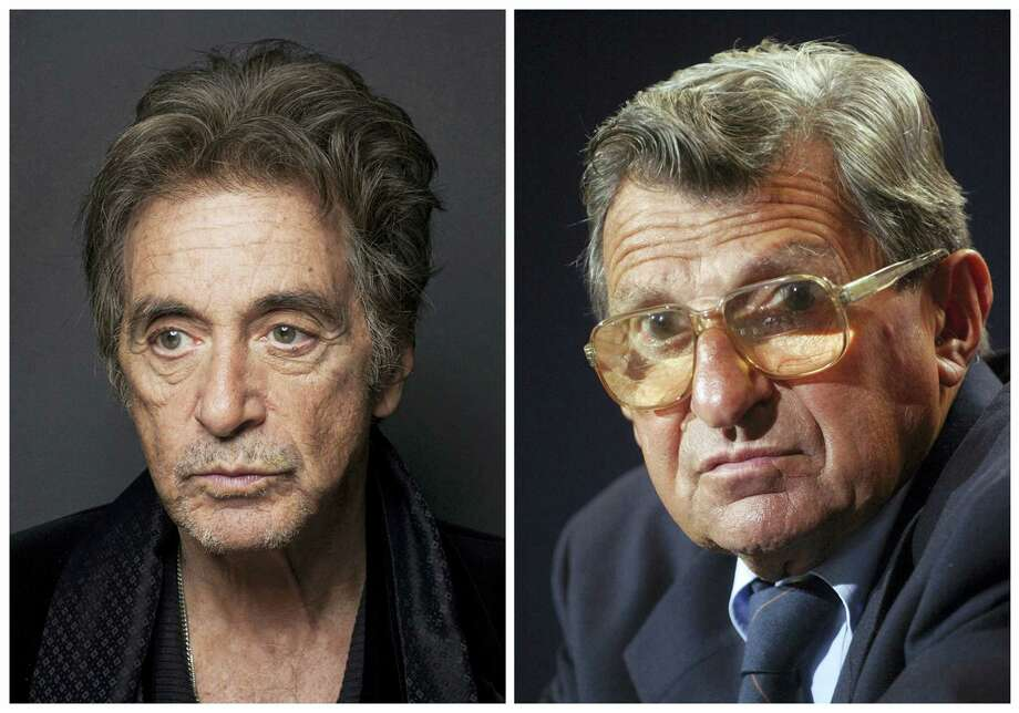 Al Pacino, left, will play Penn State football coach Joe Paterno in an upcoming HBO biopic. Photo: The Associated Press File Photo   / AP