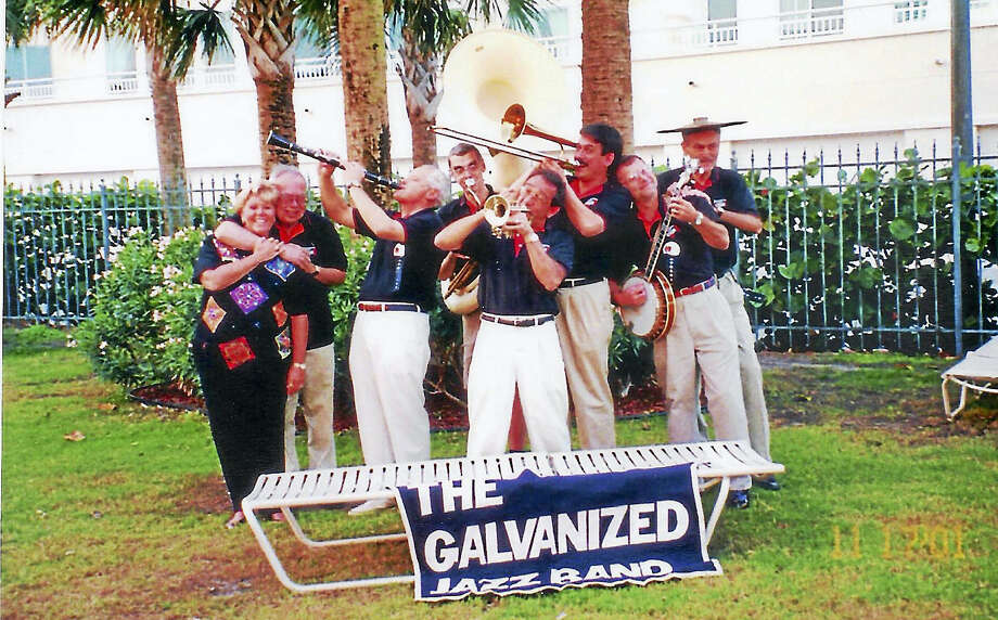 The Galvanized Jazz Band during a road trip. Photo: Contributed