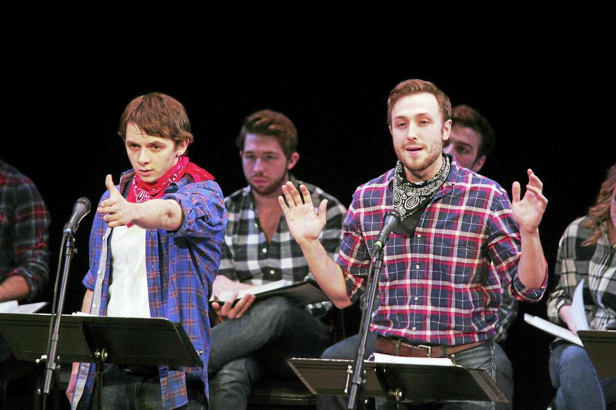 Performers rehearse for stage readings at Goodspeed Musicals.
