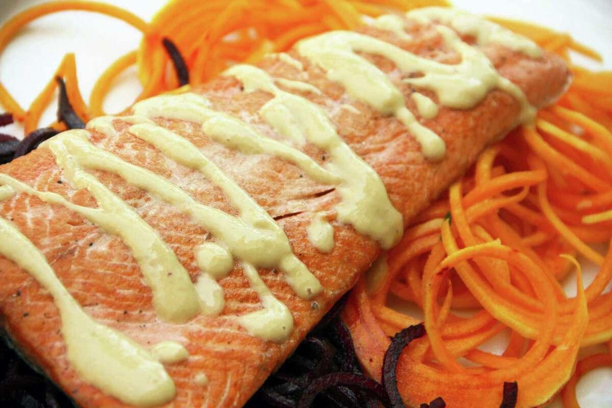 Easy summer miso salmon.