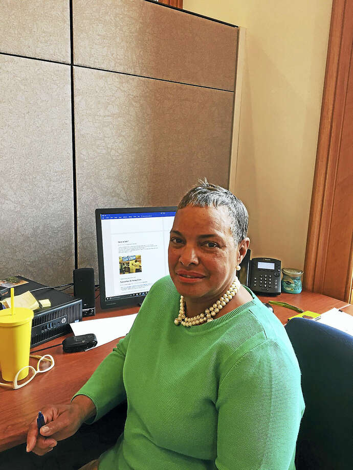 Deputy City Town Clerk Sally Brown is temporarily assigned to Chief Administrative Officer Michael Carter's office. Photo: Mary O'Leary — New Haven Register