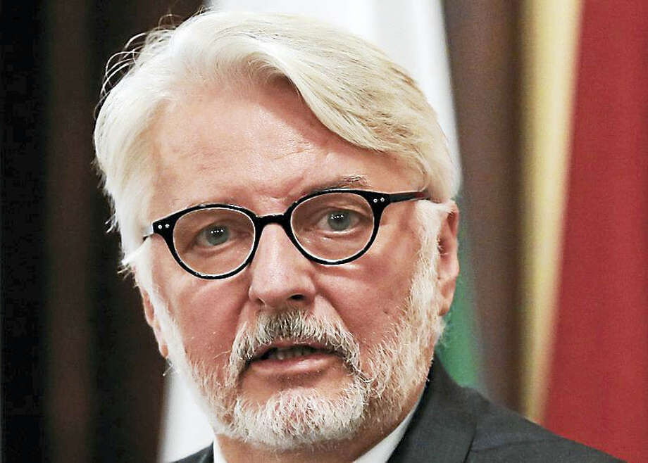 "AP Photo/Vadim Ghirda, file   In this Tuesday, Nov. 8, 2016, file photo, Poland's Foreign Minister Witold Waszczykowski speaks during a press conference in Bucharest, Romania. The Polish foreign minister been mocked on Twitter after he claimed to have met with the representative of a nonexistent country as part of Poland's bid for a seat on the U.N. Security Council. Witold Waszczykowski was in New York this week to lobby for a seat on the council from 2018-19, telling reporters Tuesday, Jan. 10, 2017 he was meeting with representatives from ""countries such as Belize or San Escobar."" Photo: Digital First Media"