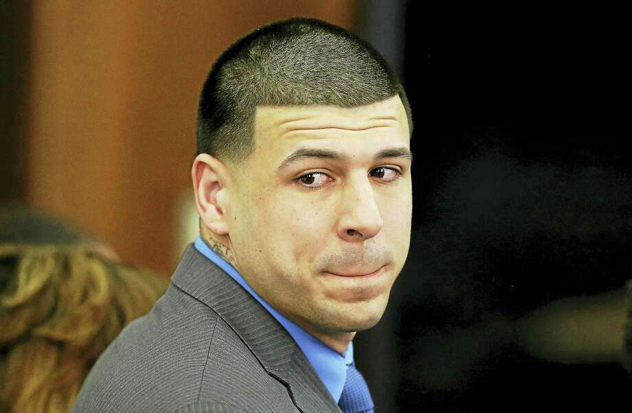 Former New England Patriots tight end Aaron Hernandez. Photo: The Associated Press File Photo