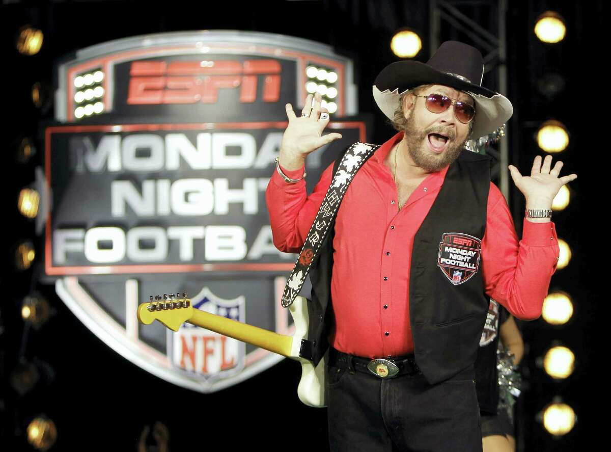 """In this 2011 photo, Hank Williams Jr. performs during the recording of a promo for NFL Monday Night Football. USA Today Network-Tennessee reported on that Williams and his """"All My Rowdy Friends Are Here on Monday Night"""" theme are returning to """"Monday Night Football."""""""