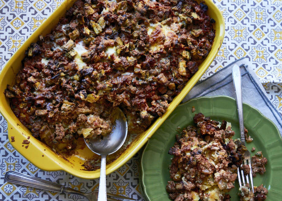 Moussaka, an eggplant and meat casserole, is one of Greece's national dishes. Photo: The Associated Press   / Mia via Katie Workman