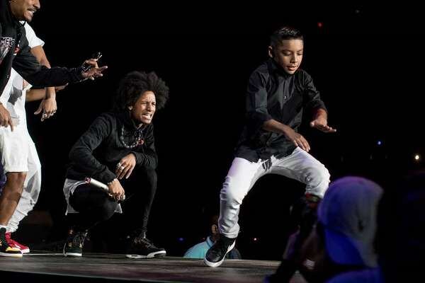Gilbert Rodriguez shares the stage with his idols Les Twins during Summer Jam 2017 at the LEA.