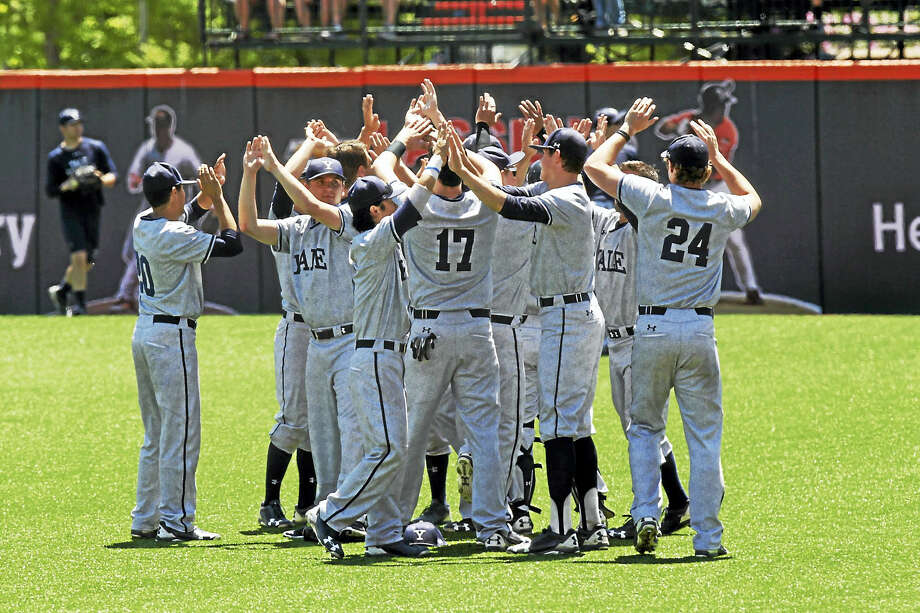 """Yale Sports PublicityDespite dealing with stereotypes, including an Oregon State fan who tweeted """"The nerds have arrived"""" Yale has proved it can play baseball with the best. Photo: Digital First Media / ©2017 Steve Dipaola"""