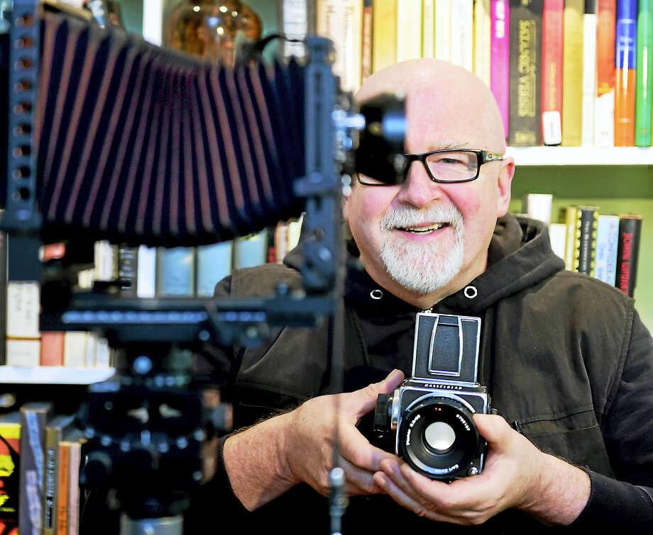 Joseph Gerhard of New Haven, a photographer, operating room nurse, musician, artist and author. Photo: Peter Hvizdak — New Haven Register   / Peter Hvizdak