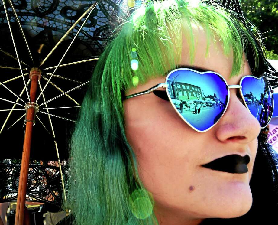 Hannah DeLallo of Seymour takes in the view of the 6th annual Founders Day celebration street fair in downtown Seymour. Photo: Peter Hvizdak — New Haven Register FILE PHOTO   / ©2015 Peter Hvizdak