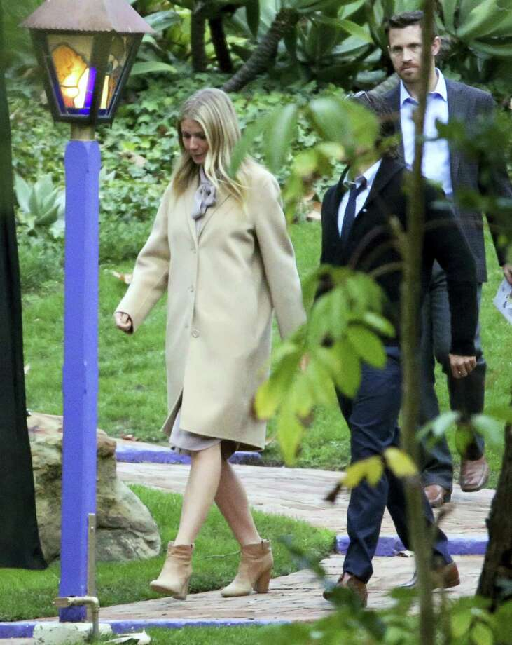 Gwyneth Paltrow leaves a memorial service at the homes of Debbie Reynolds and her daughter Carrie Fisher in Los Angeles Thursday, Jan. 5, 2017. Reynolds died Dec. 28 at the age of 84, a day after her daughter died at the age of 60. Photo: AP Photo/Reed Saxon    / Copyright 2016 The Associated Press. All rights reserved. This material may not be published, broadcast, rewritten or redistribu