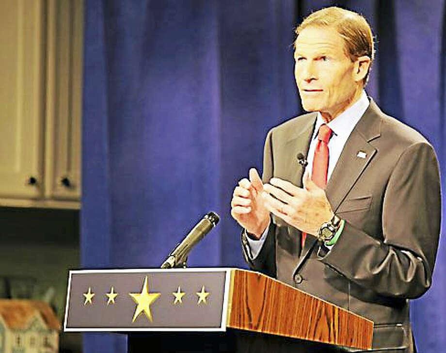 Sen. Richard Blumenthal Photo: CTNewsJunkie File Photo