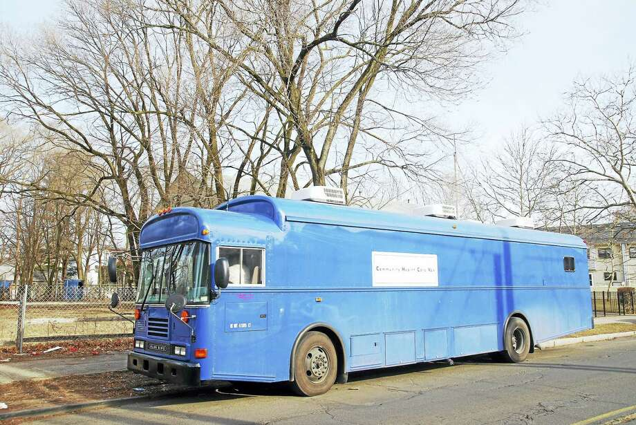 The Yale School of Medicine's Community Health Care Van. Photo: CONTRIBUTED PHOTO — John Curtis/Yale School Of Medicine