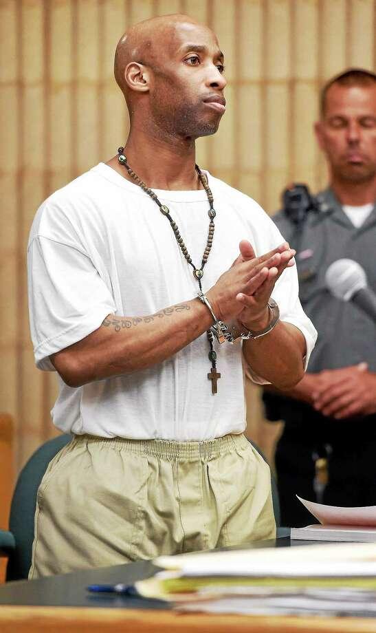 Matthew Pugh in Superior Court in Milford in 2015. Photo: Arnold Gold — New Haven Register