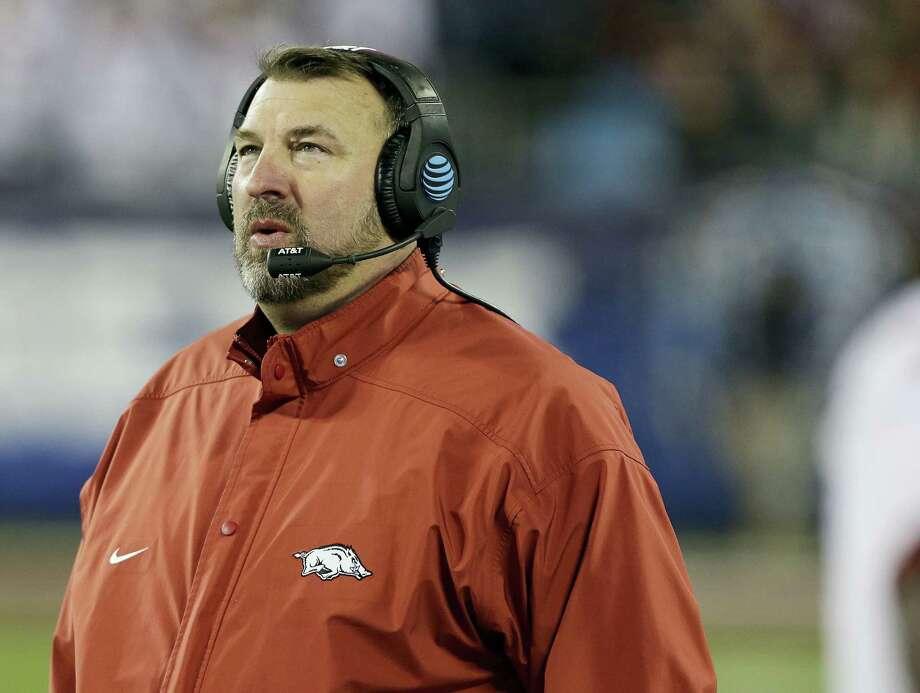 Arkansas head coach Bret Bielema. Photo: The Associated Press    / FR170480 AP