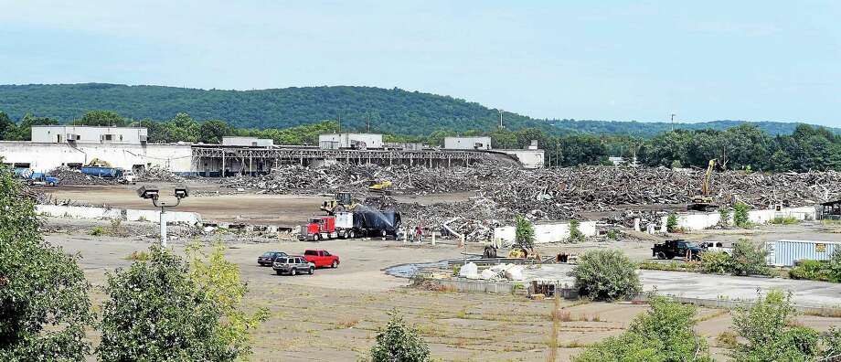 The North Haven Economic Development Commission toured a variety of sites Aug. 21, 2014, in North Haven, including the former Pratt & Whitney site. Photo: Mara Lavitt - New Haven Register   / Mara Lavitt
