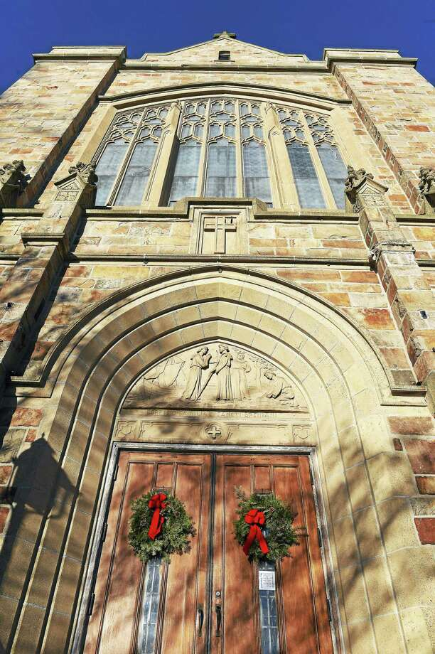 St. Brendan Catholic Church on Whalley Avenue in New Haven on Tuesday. Photo: Arnold Gold — New Haven Register