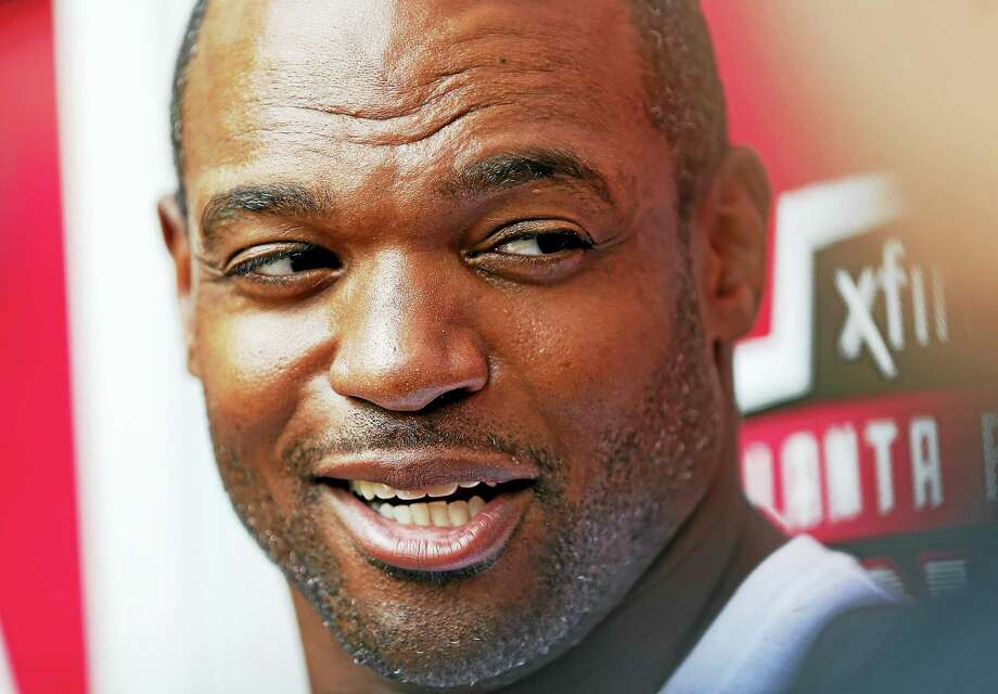FILE - In this Aug. 4, 2016, file photo, Atlanta Falcons defensive lineman Dwight Freeney talks to reporters at the NFL football team's training camp, in Flowery Branch, Ga.  After being held out of the Falcons' preseason opener only a few days after signing with the team, defensive end Dwight Freeney is expected to make his debut with the team on Thursday night, Aug. 18, 2016, at Cleveland.  (AP Photo/John Bazemore, File) Photo: The Associated Press File Photo   / Copyright 2016 The Associated Press. All rights reserved. This material may not be published, broadcast, rewritten or redistribu