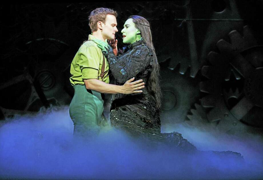 """Jeremy Woodard as Fiyero and Jessica Vosk in a scene from """"Wicked."""" Photo: Photo Courtesy Of Joan Marcus   / ©2016 Joan Marcus?"""