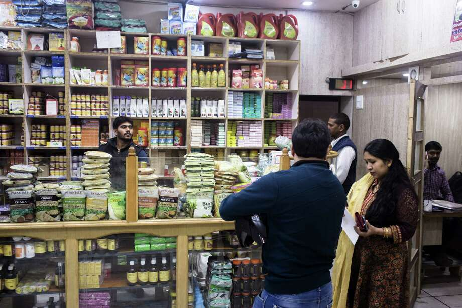 Customers browse a Patanjali Ayurved store in New Delhi, India. Photo: Udit Kulshrestha — BLOOMBERG   / Bloomberg