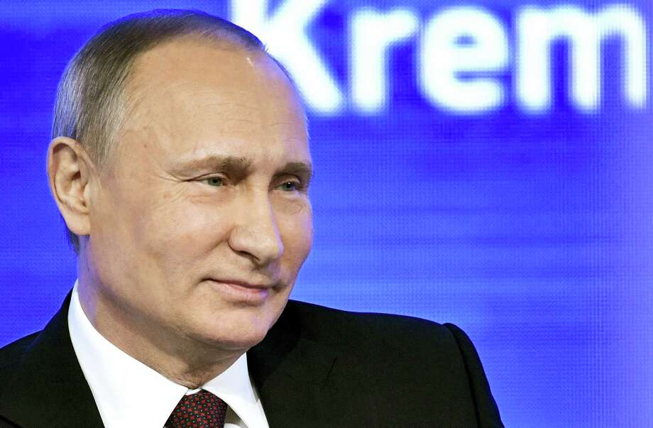 Russian President Vladimir Putin speaks during his annual news conference in Moscow, Russia, Friday, Dec. 23, 2016. Photo: Alexei Nikolsky, Sputnik, Kremlin Pool Photo Via AP   / POOL SPUTNIK KREMLIN