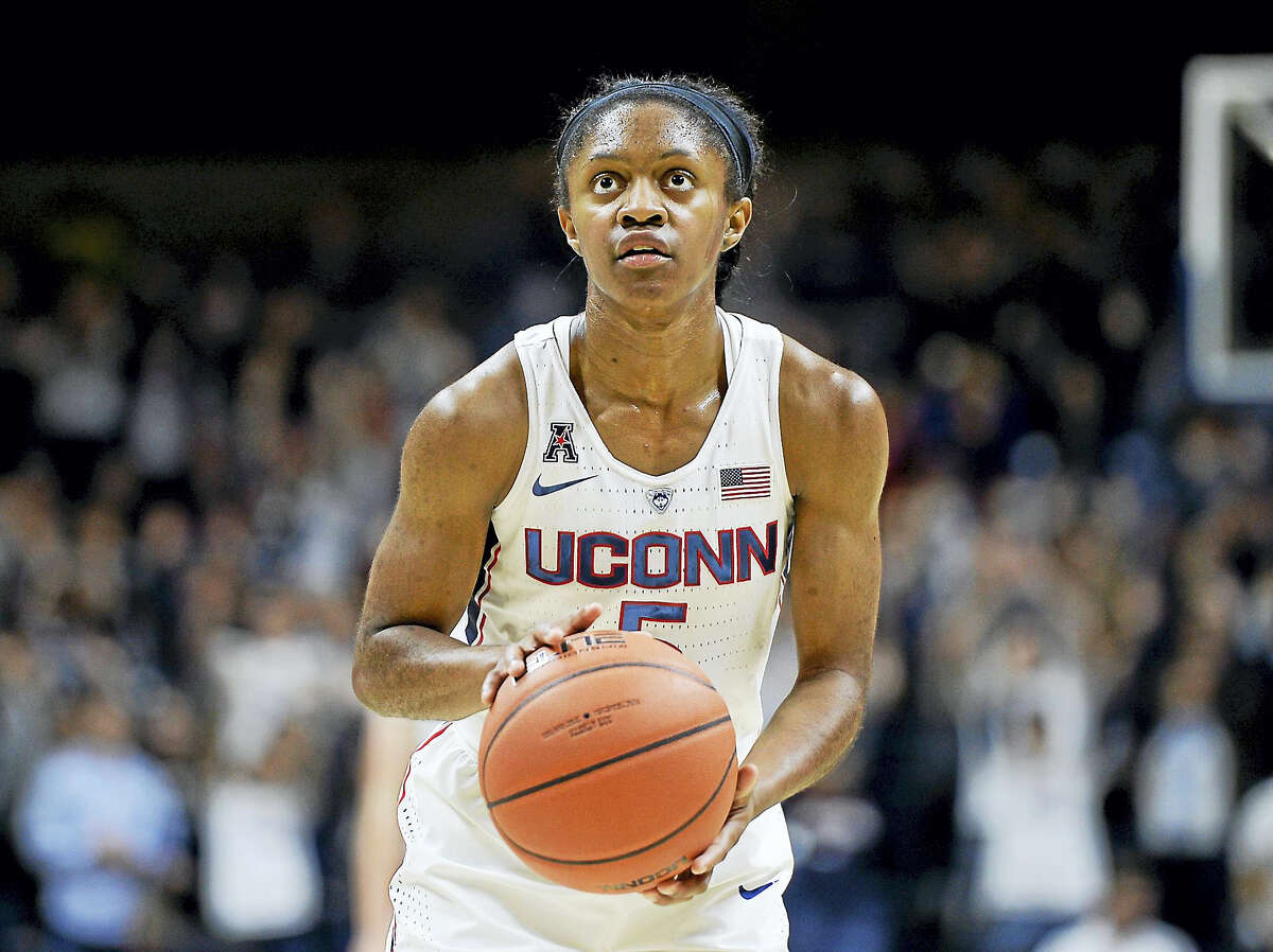 Crystal Dangerfield will miss UConn's game against Chattanooga on Tuesday with concussion-like symptoms.