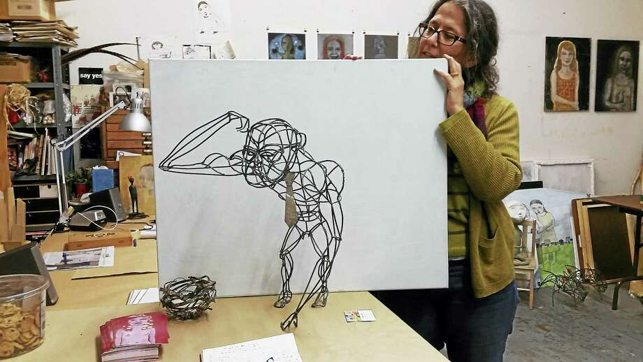 Artist Julie Fraenkel of Branford. Photo: PHOTO BY JASON C. DIAZ - NEW HAVEN REGISTER