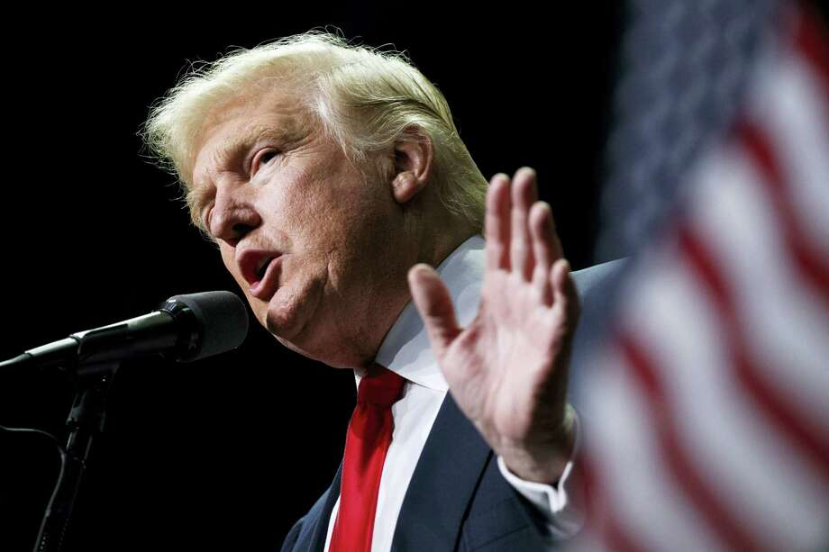 In this file photo, Donald Trump speaks in Hershey, Pa. Photo: Evan Vucci — The Associated Press File Photo   / Copyright 2016 The Associated Press. All rights reserved.