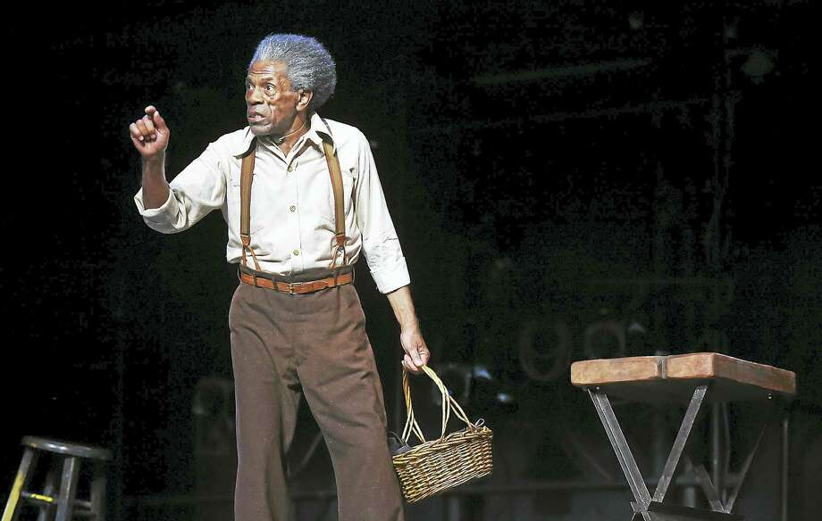 """André De Shields, a Beinecke Fellow at Yale School of Drama this season, plays Hedley in rehearsal for """"Seven Guitars"""" at Yale Repertory Theatre. Photo: Catherine Avalone — Register   / New Haven RegisterThe Middletown Press"""