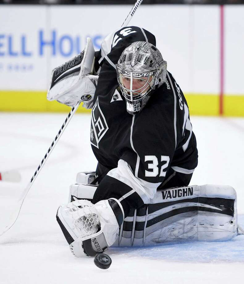 In this Friday file photo, Los Angeles Kings goalie Jonathan Quick, of Hamden, stops a shot during the first period of Game 5 in an NHL hockey Stanley Cup playoffs first-round series against the San Jose Sharks in Los Angeles. The NHL's injured-reserve list could ice its own all-star lineup. If it seems the league is missing some of its top talent due to injuries a quarter into the season, you're not mistaken. Photo: Mark J. Terrill — The Associated Press File   / Copyright 2016 The Associated Press. All rights reserved. This material may not be published, broadcast, rewritten or redistribu