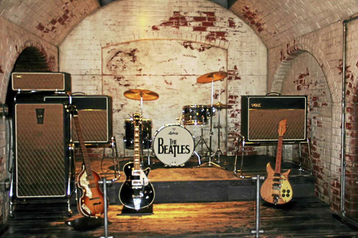 A recreation of the Cavern venue where the Beatles played during their early days.